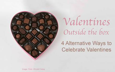 Heart-Shaped Box of Chocolates with Article Title